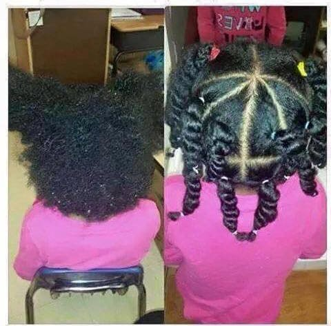 teacher does black childs natural hair at school facebook