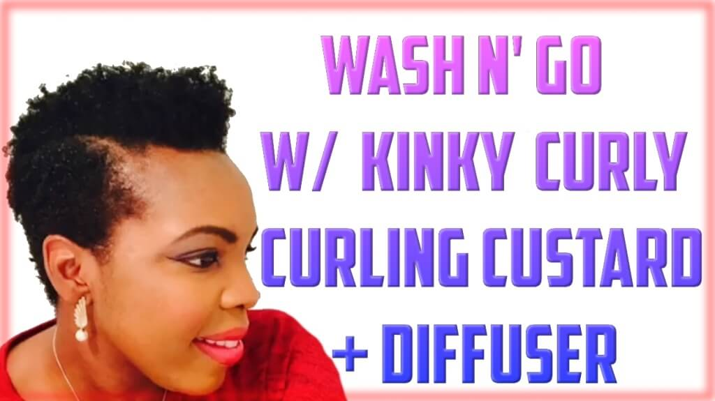 Wash and Go! Kinky Curly Curling Custard + Diffuser