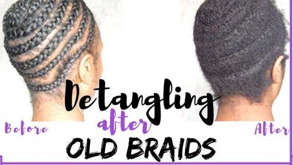 detangling natural hair after braids